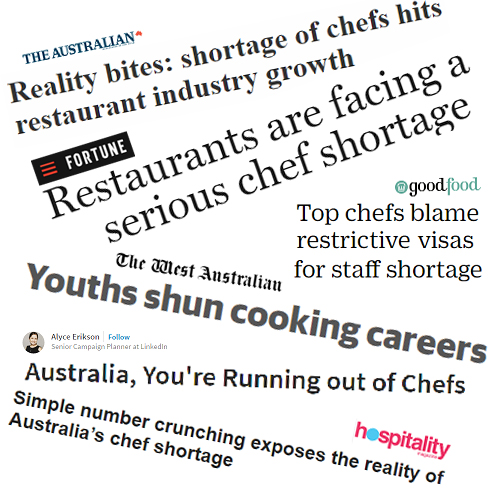 Oh Yes, there sure is a Chef shortage .....