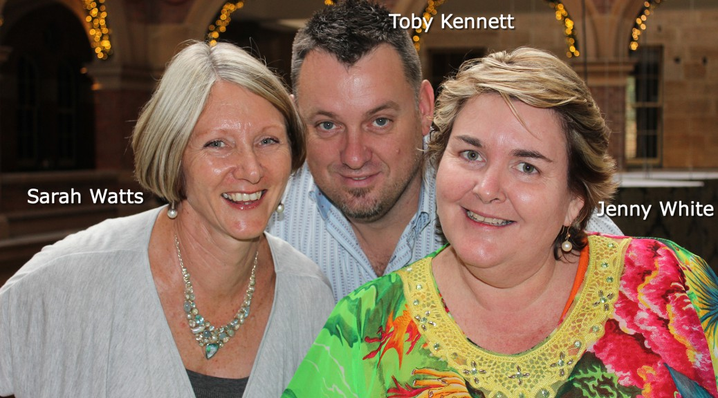 Sarah Watts, Toby Kennett, Jenny White